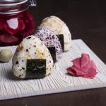 Pickled ginger and Onigiri (rice balls)